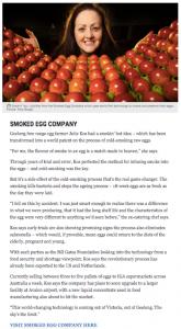 Smoked Egg Company, Herald Sun